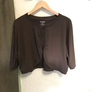 Venezia Tops - Venezia Brown Shawl
